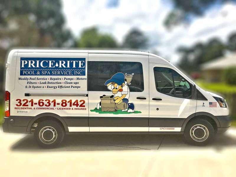 Emergency Pool Cleaning Service Van